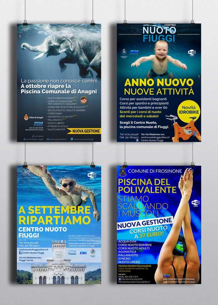 Manifesti Centro Nuoto Fiuggi