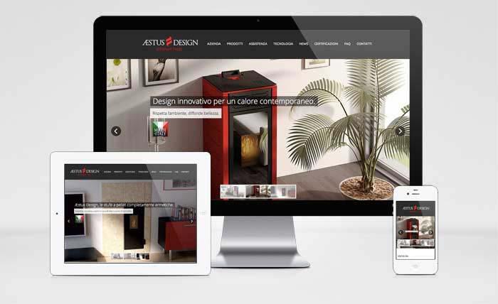 Creazione del sito web di Aestus Design