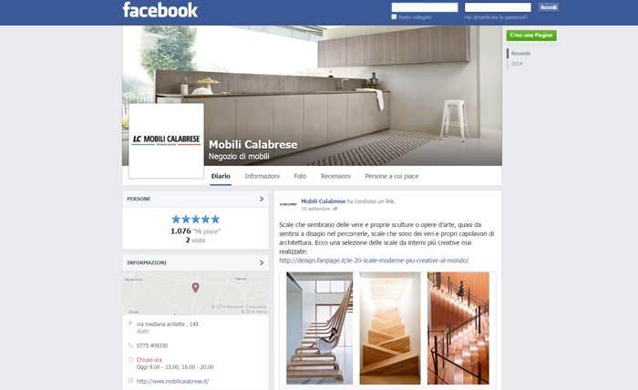 Pagina Facebook Mobili Calabrese
