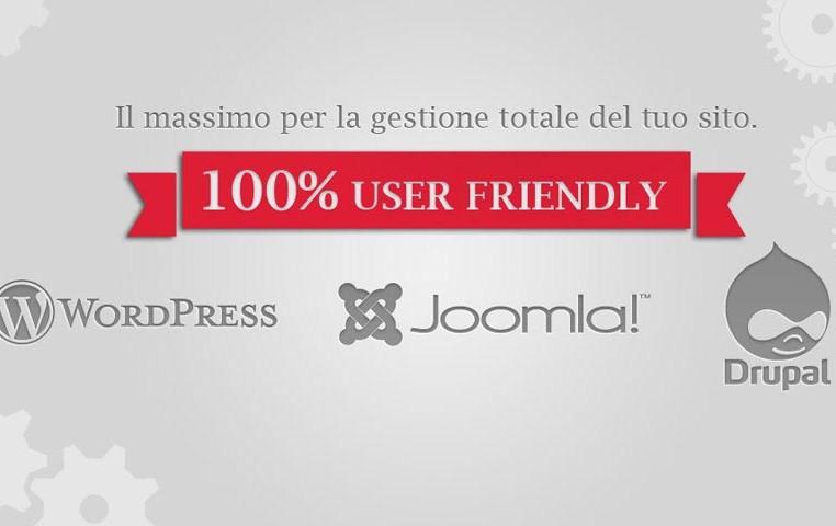 Creazione siti web CMS Joomla! WordPress Drupal Magento Umbraco