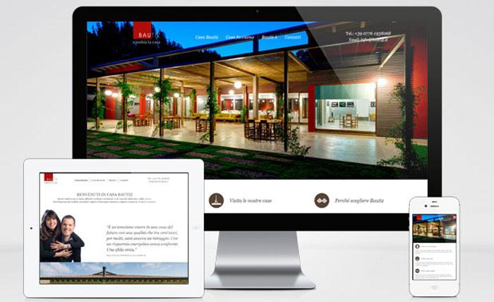 Bautiz - sito web responsive layout